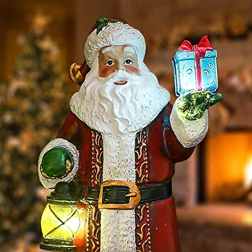 Buy Valery Madelyn 12 Polyresin Christmas Santa Claus Figurines Decoration With Led Lights Themed With Classic Collection Splendor Christmas Ornaments Online In Cameroon B07bqm6sb6