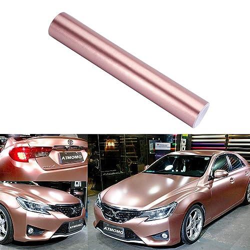 ATMOMO Purple and Coppery Car Chameleon Wrap Auto Carbon Fiber Wrapping Film Vehicle Change Color Sticker Tint Vinyl Air Bubble Free 30CM x 152CM