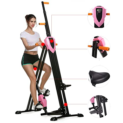 2 in 1 Mini Stepper MEYUE Indoor Fitness Stair Stepper Aerobic Trainer Exercise Machine with Resistance Bands and LCD Monitor