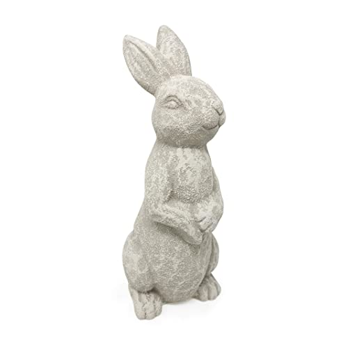 Buy Elly Décor 14 Inch Tall Standing Sculpture For Your Patio Yard Outdoor Lawn Décor Cute Ceramic Figurine Garden Rabbit Bunny Statue White Cantera Online In Cameroon B089fqvst5