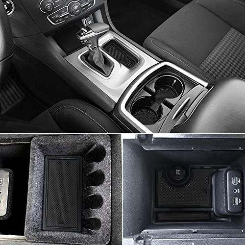 Auovo Anti Dust Mats for Ford Explorer 2019 2018 2017 2016 Custom Fit Door Pocket Liners Cup Holder Pads Console Mats Interior Accessories Blue 27pcs//Set