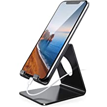 AONKEY Cell Phone Stand iPhone Stand Compatible with iPhone 12 Mini Pro//11 Pro Max SE //Samsung Height Angle Adjustable Phone Holder for Desk All Mobile Phones /& Other 4-11 inch Devices