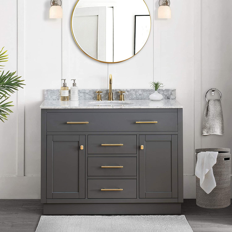 Sj Collection Defoe 48 In Shaker Style, Shaker Style Vanity Bathroom