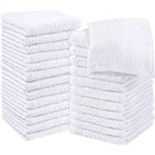 Viscose Stripe Towels Utopia Towels White Towel Set 8-Piece 600 GSM Ring Spun Cotton Pack of 8 Highly Absorbent Towels